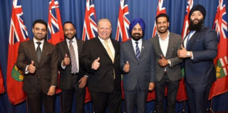 PC candidates from Brampton with Doug Ford