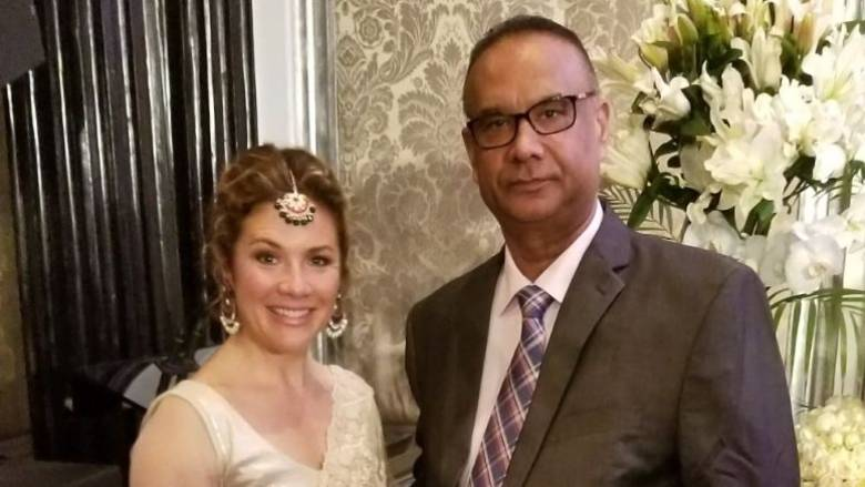 Atwal with Sophie Trudeau