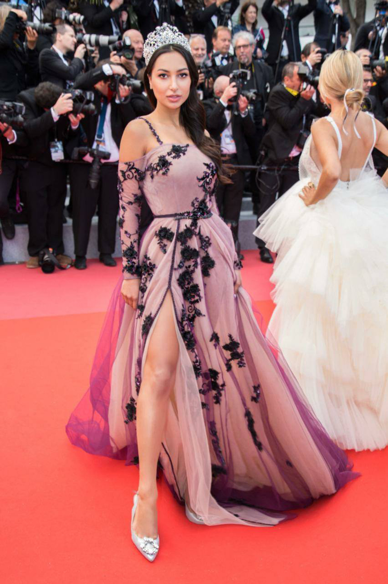 Anzhelika Tahir walking the red carpet at Cannes