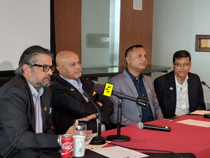 Canada India Foundation chairman Ajit Someshwar (extreme left)