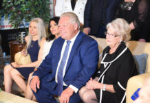 Doug Ford with family on election night