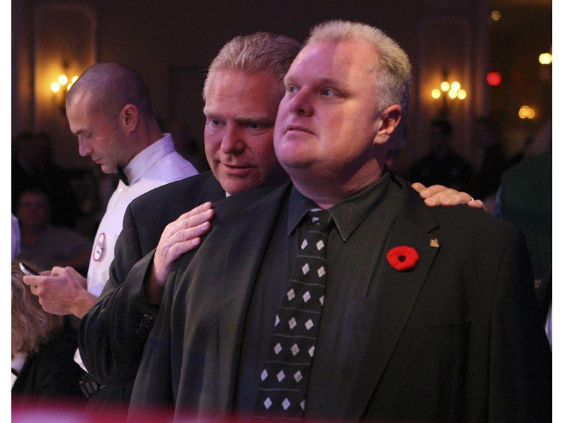Doug with his late brother Rob Ford