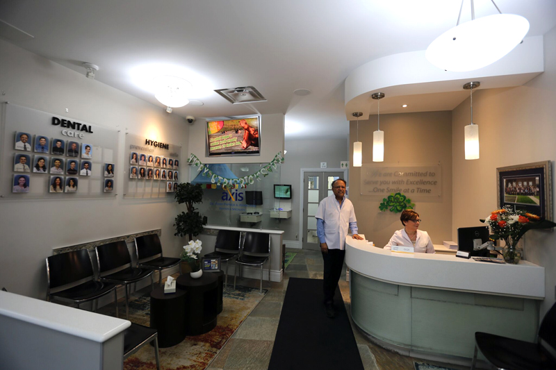 Dr Terry Papneja at his Axis Dental Clinic