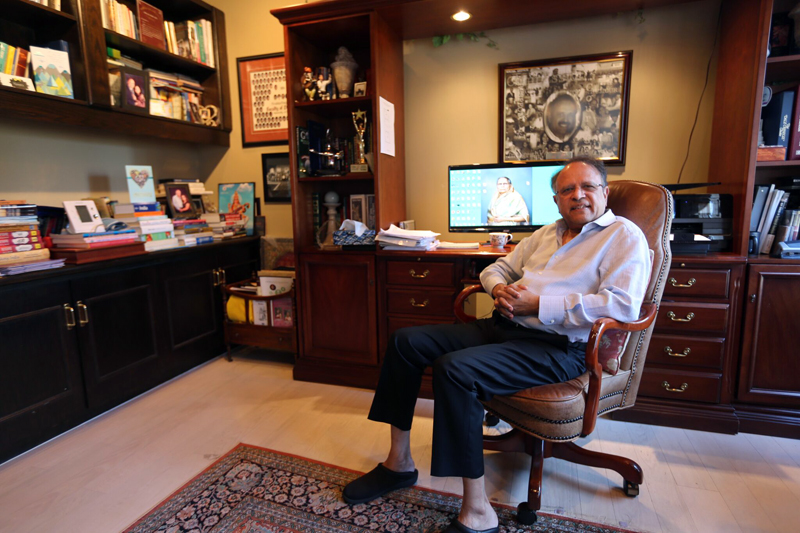 Dr Terry Papneja relaxing at home