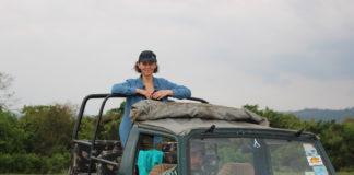 Shannon Skinner in Kaziranga India