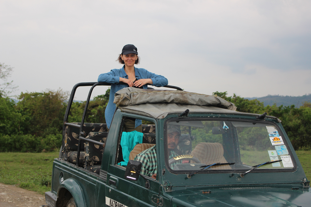 Shannon Skinner in Kaziranga India