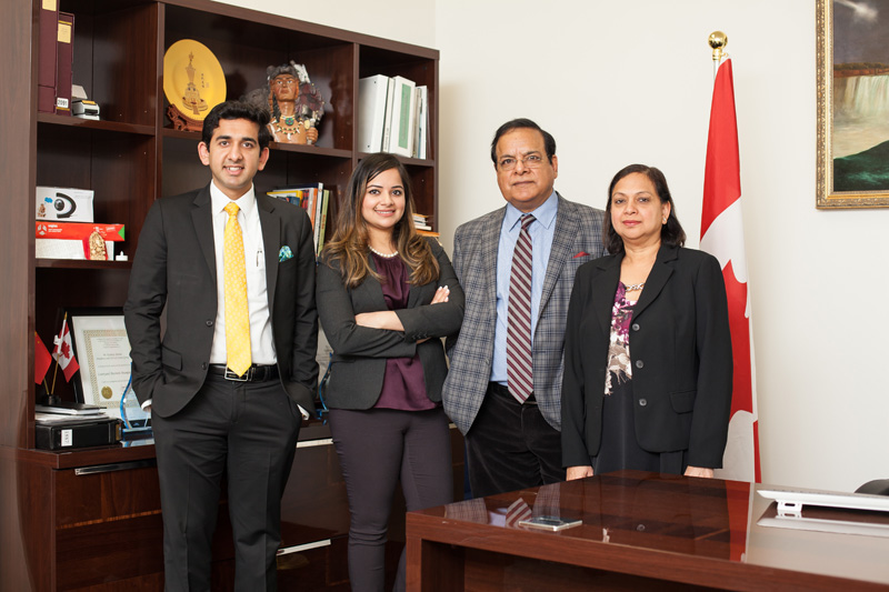 Kuldeep Sharma and family at his corporate office