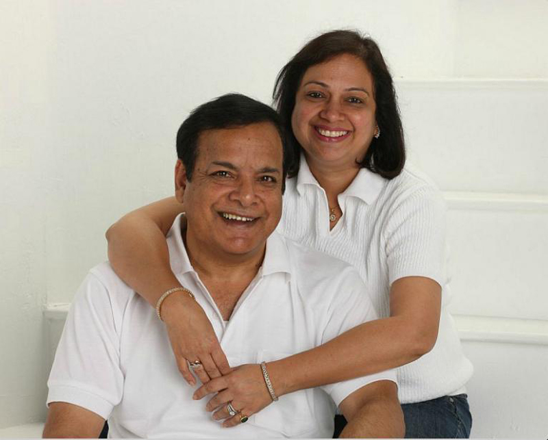 Kuldeep Sharma and wife Poonam Sharma