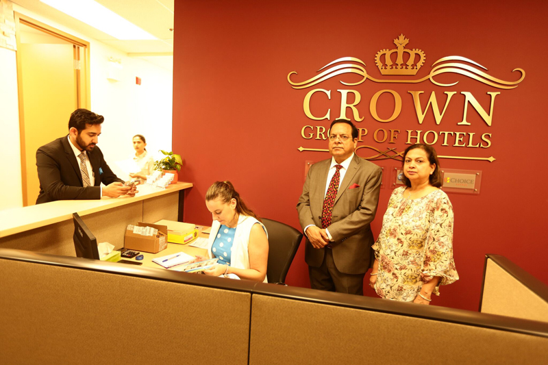 Kuldeep Sharma with wife and son at his corporate office