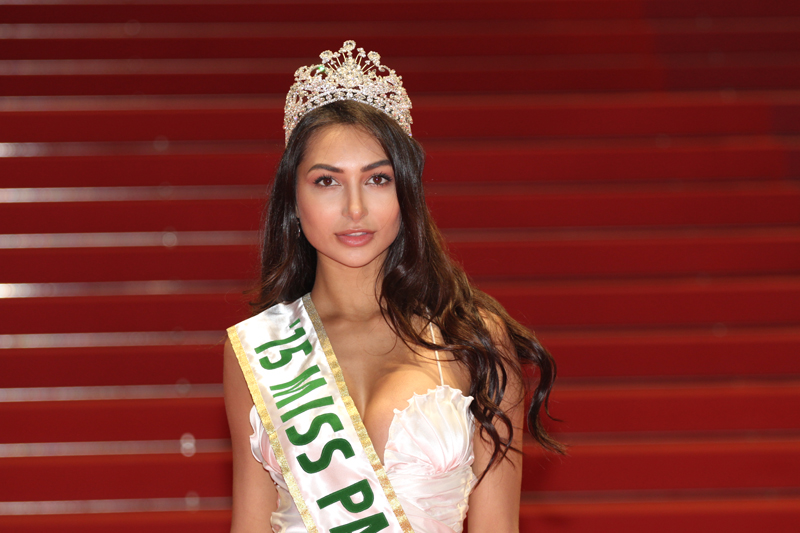 Miss Pakistan World Anzhelika Tahir became the first Pakistani beauty to walk the red carpet at Cannes this year.