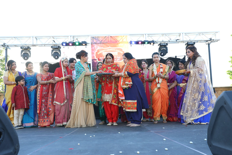 Wedding scene at Airport Lacoste Centre Summer Festival