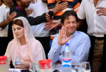 Imran Khan with then wife Reham Khan