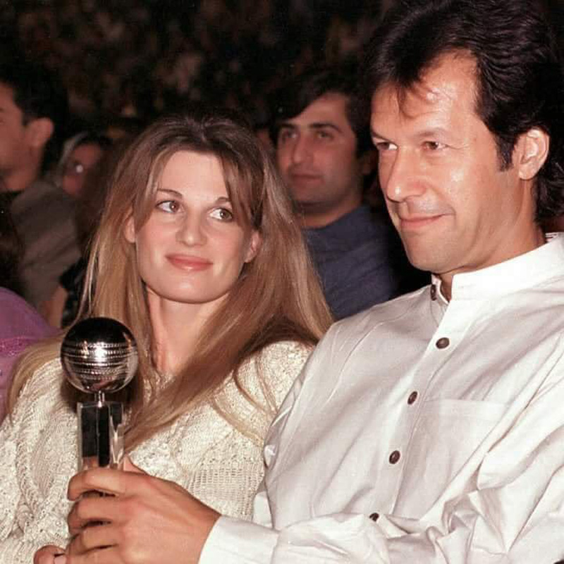 Imran and his first wife Jemima.