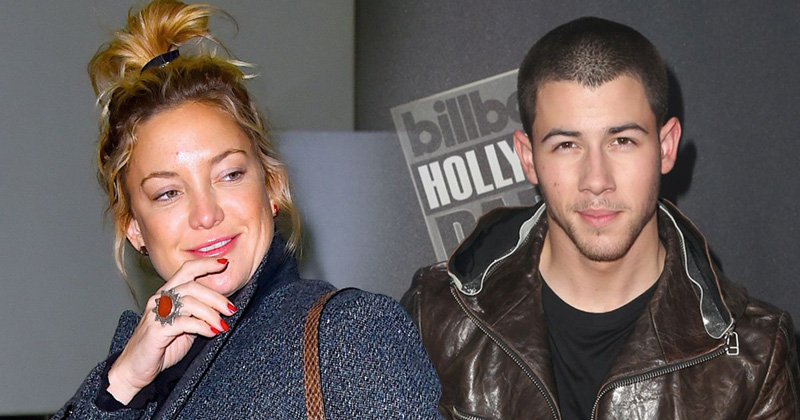 Nick Jonas dated Kate Hudson (left) who is 13 years older than him.