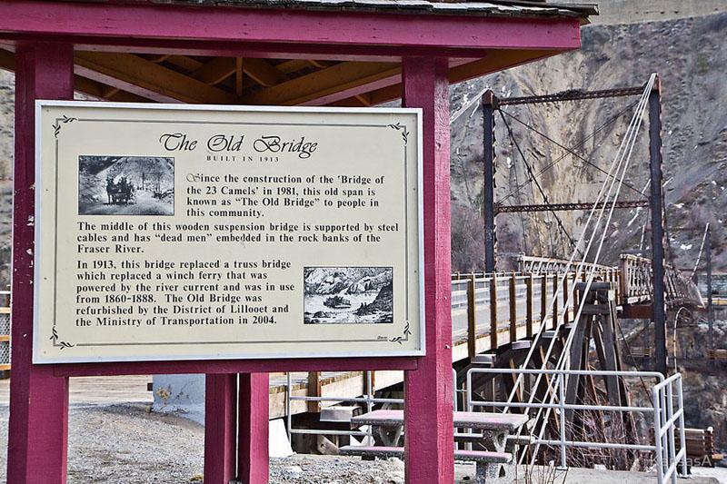 Old bridge in Lillooet.