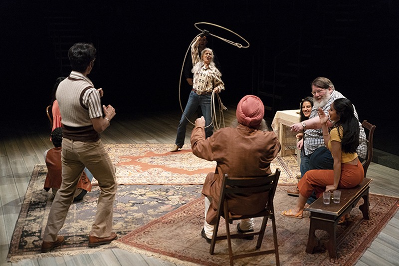 ani Lauzon as Charlie with the cast of The Orchard (After Chekhov). Photo by David Cooper.