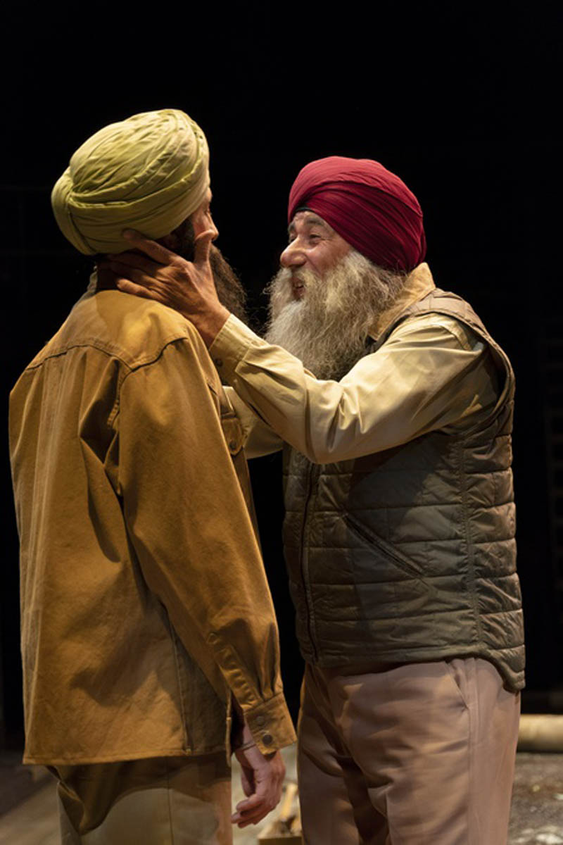 Sanjay Talwar as Gurjit with David Adams as Kesur in The Orchard (After Chekhov). Photo by David Cooper.