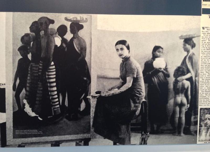 Amrita Sher-Gil in her Lahore studio in 1937. Photo Courtesy: The Estate of Amrita Sher-Gil