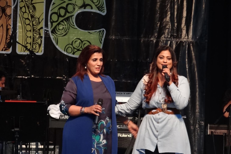 Humera Channa (left) and Richa Sharma