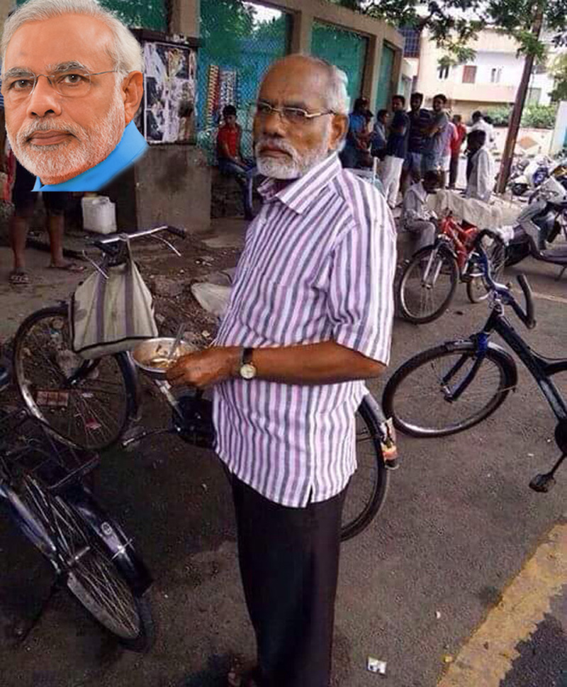 Modi and his lookalike