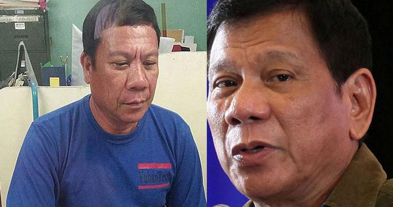 Philippines president Rodrigo Duterte lookalike