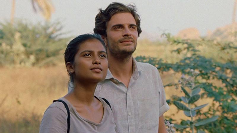 Aarshi Banerjee (Maya) and Roman Kolinka (Gabriel) in Maya which premiered at the Toronto International Film Festival (TIFF).