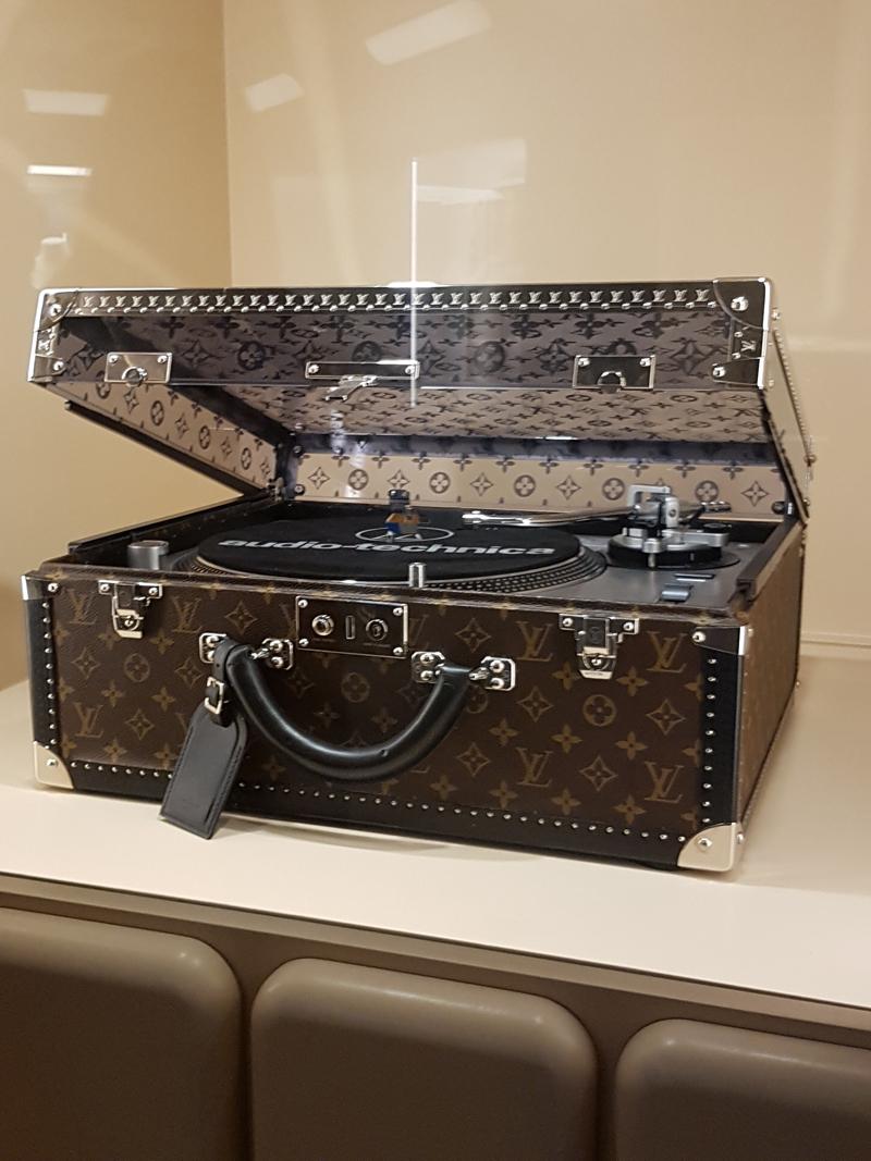Maison Louis Vuitton's custom-built record player case.