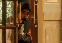 Dev Patel as Sikh waiter Arjun in Hotel Mumbai.