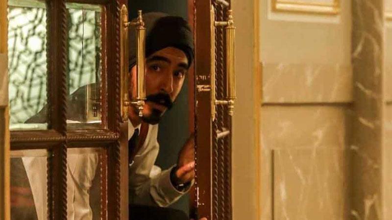 Dev Patel as Sikh waiter Arjun in Hotel Mumbai.