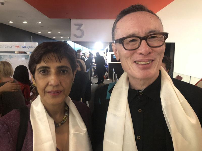 Filmmakers Ritu Sarin and husband Tanzing Sonam at Toronto International Film Festival (TIFF).