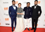 """Vicky Kaushal, Tapsee Pannu, Anurag Kashyap and Abhishek Bachchan at the premiere of """"Husband Material"""" at Toronto International Film Festival at Roy Thomson Hall on September 11. Photo by Kevin Winter/Getty Images for TIFF."""