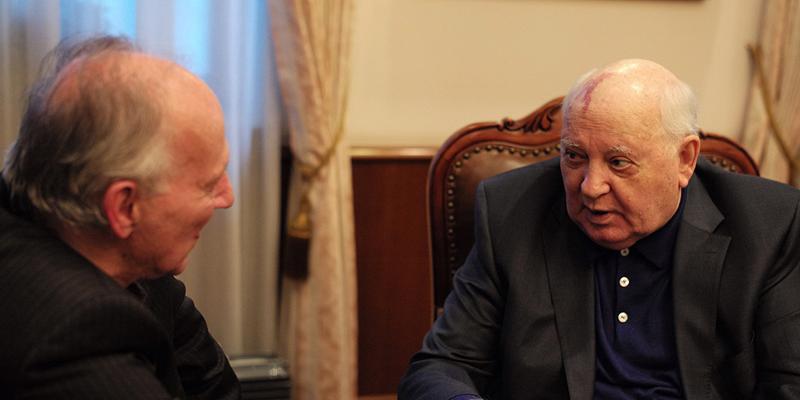 Werner Herzog with Gorbachev