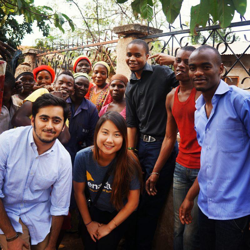 Abhishek Jain and Annie Chen visiting locals in Kilimanjaro in Tanzania