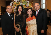 Dr Terry Papneja (extreme right) and his wife Nimmi Papneja with Anu and Arun Srivastava at AIM for SEVA gala.