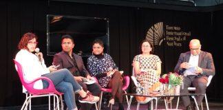 (L-R): Shree Paradkar, Arif Anwar, Amulya Malladi, Manjushree Thapa, and Rahul Varma.
