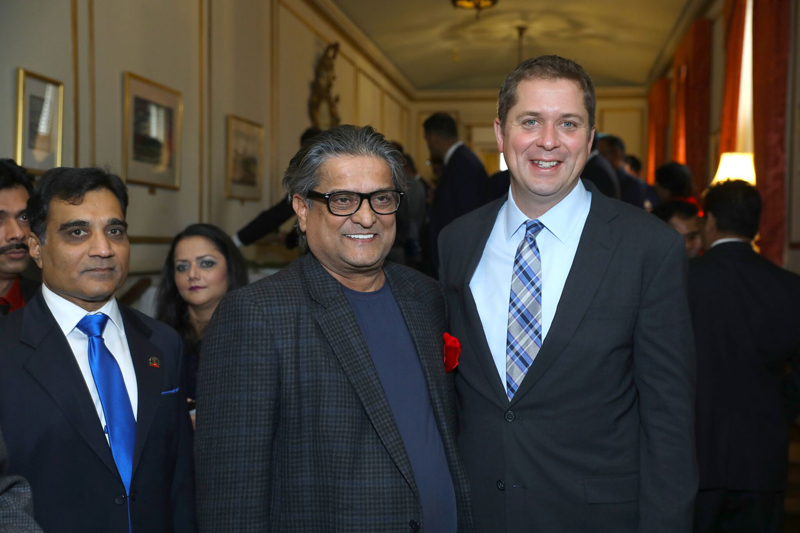 Ajit Someshwar with Andrew Scheer