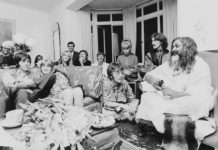 Beatles with Mahesh Yogi.
