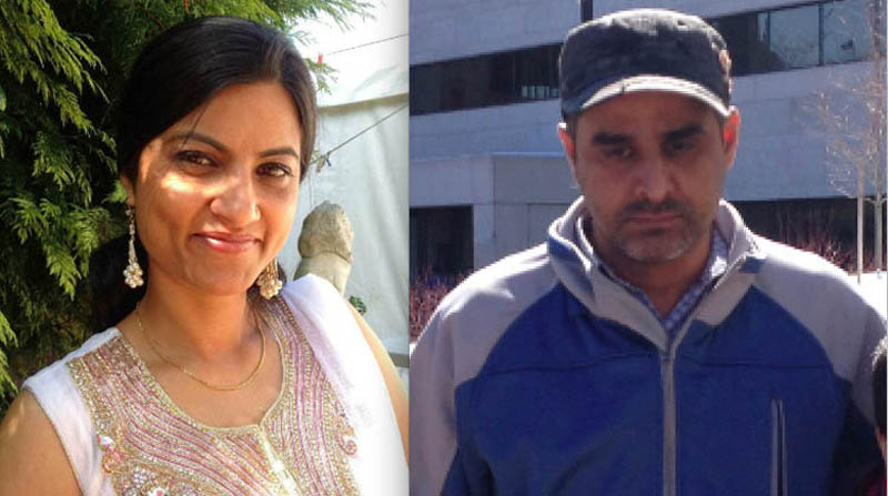 Gurpreet Ronald (left) and her lover Bhupinderpal Gill (right).