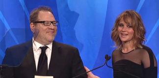 Jennifer Lawrence with Harvey Weinstein