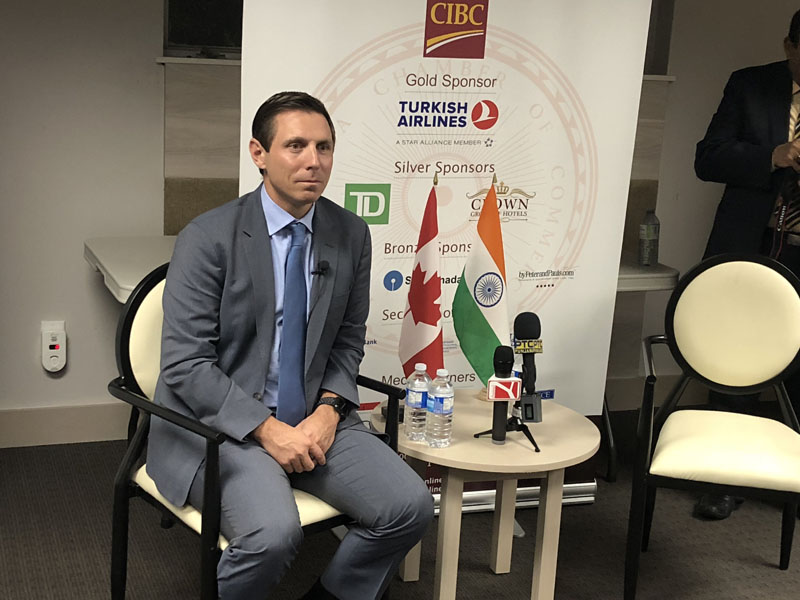 Patrick Brown at Indo-Canada Chamber of Commerce