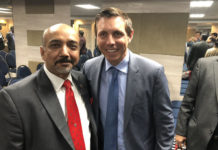Patrick Brown with ICCC president Pramod Goyal
