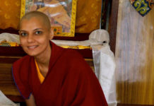 Barkha Madan as Buddhist monk