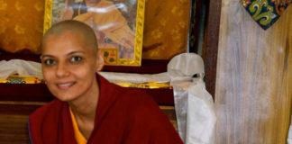 Barkha Madan as Buddhist monk