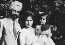 Khushwant Singh with his family.