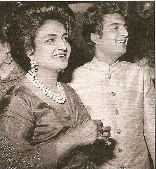 Maharani Sita Devi with son Prince Sayaji Rao Gaekwad of Baroda.
